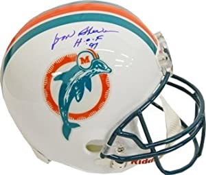 Don Shula Autographed Hand Signed Miami Dolphins Full Size TB Replica Helmet HOF 97 by Hall of Fame Memorabilia