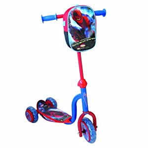 SPIDERMAN - Patinete 3 ruedas con bolsa