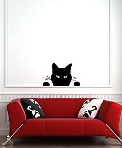 "Black Cat - ""Soon..."" - Wall Vinyl Decal"