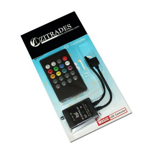 ZITRADES 20KEYS Infrared Music LED Controller 3 Channel Output For a variety of LED Lamp By ZITRADES