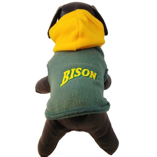 NCAA North Dakota State Bison Polar Fleece Hooded Dog Jacket, X-Small at Amazon.com