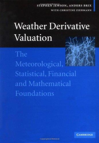 Weather derivative valuation