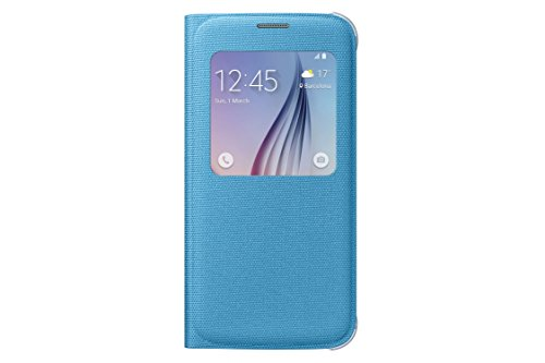 Samsung S-View Flip Cover for Samsung Galaxy S6 - Blue Fabric from Samsung