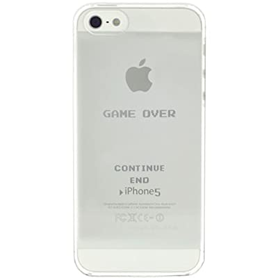 SoftBank au iPhone 5 専用 iGraphics キャラクター ハード iPhone5 ケース カバー (GAME OVER/For White)
