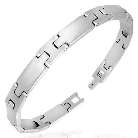 Men's Stainless Steel Panther Link 8.5 Inch Bracelet - Gift Boxed