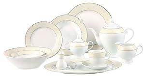 Lorenzo Import Lorenzo Import OrchidSL-57-Piece Porcelain Dinnerware Set