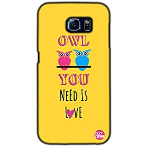 Designer Samsung Galaxy S6 G9200 Case Cover Nutcase-Owl You Need Is Love