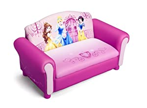 Delta Children's Products Disney Princess Upholstered Sofa by Delta Children's Products