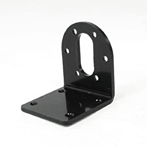 Right Angle Stainless Steel Corner DC 37GA 37GB Motor Bracket w Screws Black from Amico
