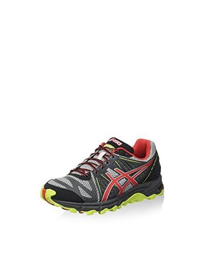 Asics Zapatillas de Running Gel-Fujitrabuco 2 Gris / Rojo / Lima