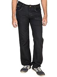 Fame Denim Lycra Regular Fit Casual Man's Black Jeans