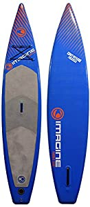 Imagine Surf COMPRESSOR/MISSION Inflatable Stand Up Paddleboard, 12.2-Feet x 31 x 6-Inch, Blue from Pryde Group Americas