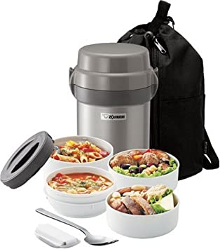 Zojirushi SL-JAE14 Mr. Bento Stainless Steel Lunch Jar, Silver $35.89