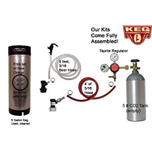 5 Gallon Corney Keg Kit