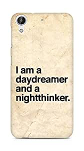 AMEZ daydreamer and night thinker Back Cover For HTC Desire 626 LTE