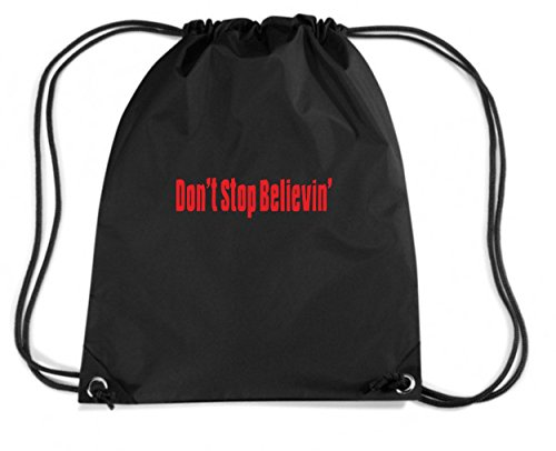 t-shirtshock-mochila-budget-gymsac-oldeng00465-dont-stop-believin-talla-capacidad-11-litros