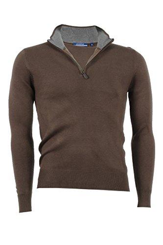 Pullover mezza zip Aigle marrone, L