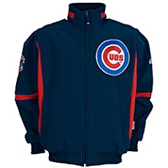 Chicago Cubs MLB Dk. Blue Adult Therma Base Premier Official Dugout Jacket By... by GametimeUSA