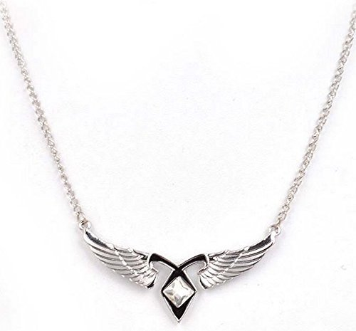 Mortal Instruments City of Ashes Angel Wings Power Rune Pendant Necklace