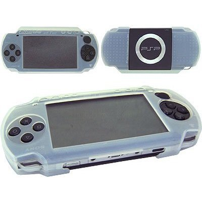 Silicon Skin Protective Cover for Sony PSP 3000 Console (Clear)