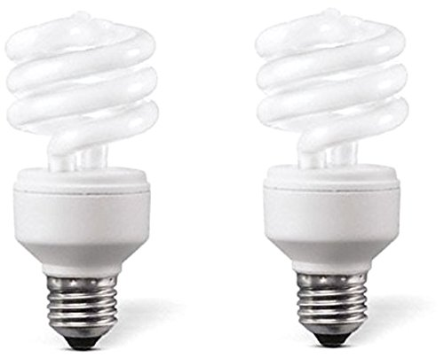 mini Spiral E27 5W CFL Bulb (White, Pack of 2)