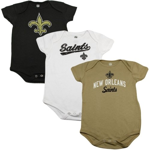 New Orleans Saints Newborn 3Pack Creeper Set BlackWhiteGold 3 - 6 M at Amazon.com