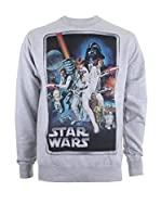 Star Wars Sudadera New Hope Poster (Gris Claro)