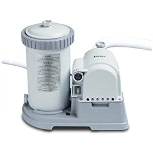 Intex krystal clear cartridge filter pump for above ground for Intex pool 120 hoch