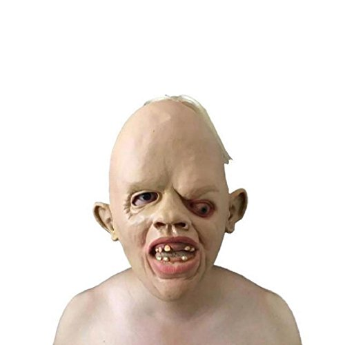 [Qisc Nature Latex Rubber Creepy Scary Ugly Halloween Mask] (Sloth Goonies Costumes)