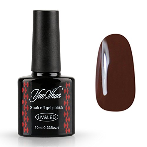 Yaoshun-UV-LED-Gel-Nail-Polish-Soak-Off-Lacquer-Dark-Brown-Color-Varnish-Nail-Art-Manicure-10ml-023