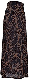 VIV Collection Womens Printed Full Maxi Skirt
