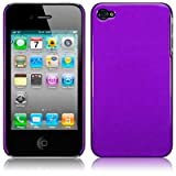IPHONE 4 / IPHONE 4G GLOSSY FLURO BACK COVER CASE / SKIN / SHELL / GEL - PURPLE PART OF THE QUBITS ACCESSORIES RANGE
