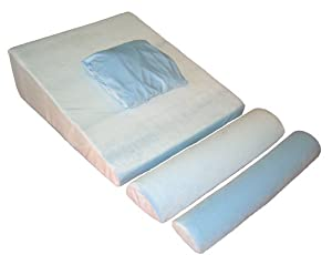 "Memory Foam Bed Wedge with supports - Doctor Designed and Recommended - Comfort Guarantee 30"" x 29"" x 9"""