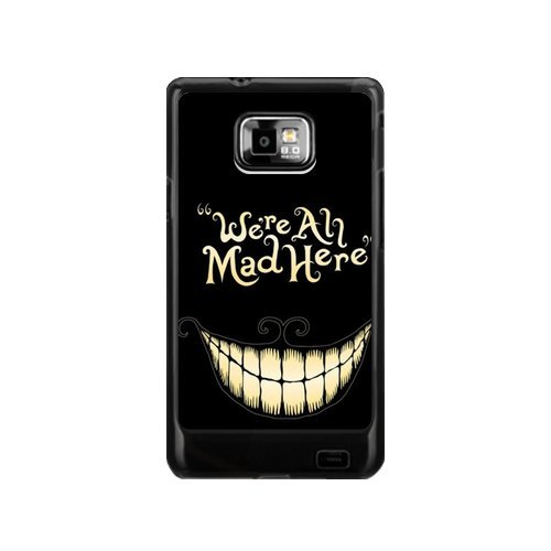 Amazon.com: We're All Mad Here Samsung Galaxy S2 I9100 Case