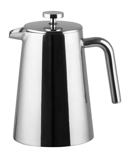 Bruntmor, KRAGLER 8 Cup (34oz) Double Wall 18/8 Steel French Press No Drip Spout & Double Filter