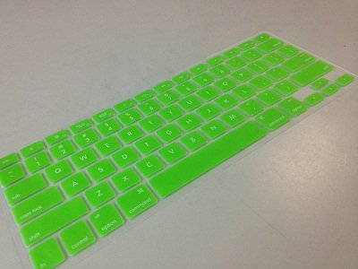 """Pioneer Tech® New Silicone Rubber Keyboard Skin Cover Film For Apple Macbook Retina 13"""" (Green)"""
