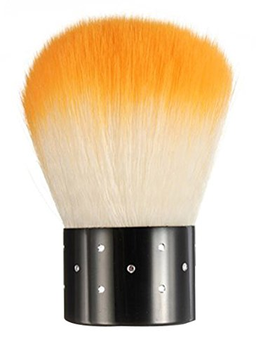 FOONEE Mini Strasssteine Kosmetik Nagel Art Staubfilter Gesichtsbürste, Orange und Weiß