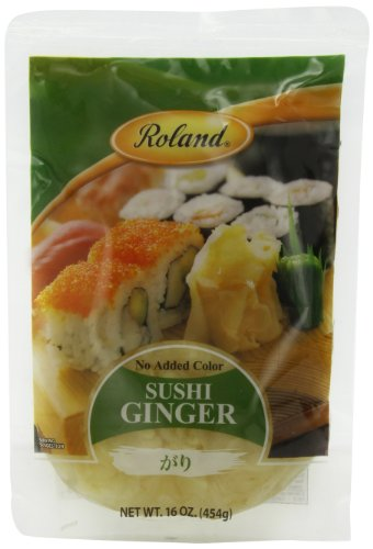 Roland Sushi Ginger, 16 Ounce (Pack of 6) (Pickled Pink Foods compare prices)