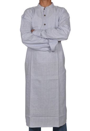 Handmade Casual Indian Khadi Mens Long Kurta Fabric For Winter & Summers Size-6XL