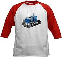 CafePress Kids Baseball Jersey - Kenworth W900 Lt Blue Truck Kids Baseball Jersey