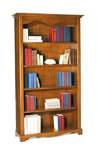 Lo Scrigno Arredamenti, Libreria Classica 5 ripiani tinta noce W514/N