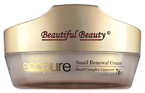 Ecopure Snail Renewal Cream 50Ml With Snail Secretion Filtrate Complex Liposome 76%