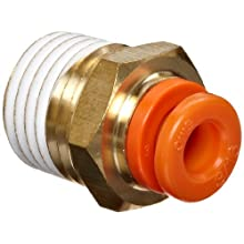 SMC KQ2H Push-to-Connect Tube Fitting, Adapter, Brass Body, Tube OD x NPT Male, With Sealant, Inch