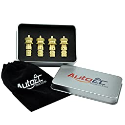 AutoEC Tire Deflator Kit Universal Adjustable Pack of 4