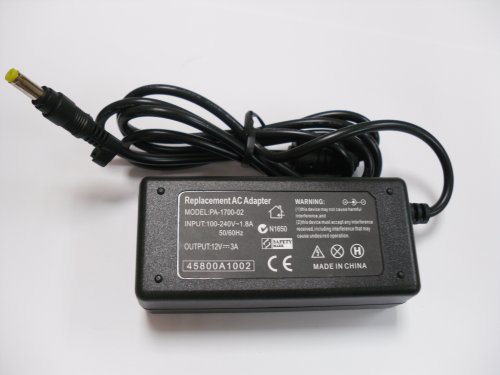 Replacement AC Adapter for Asus Eee For 900, 901, 904, 1000H, 1000 Series. DC 12V Output Current: 3A (36 Watts) (Asus Eee 900 compare prices)