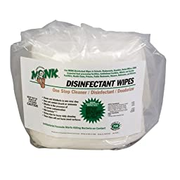 Monk Disinfectant Wipe - 800 ct. Refill -(1 CASE)