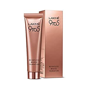 Lakme 9 to 5 Weightless Mousse Foundation, Beige Vanilla, 29 g