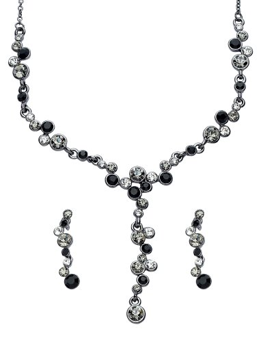 Code Red Black, White and Grey Crystal Necklace
