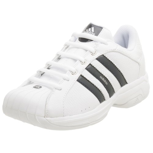 adidas Men's Superstar 2G Ultra Basketball Shoe, White/Indigo/Silver, 8 M