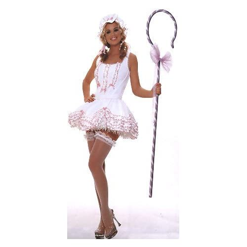 Sexy   Halloween Costumes: Hot Girls in Sexy Peep - Womens Fairy Tale Sexy Lil Bo Peep Costume Lingerie Outfit